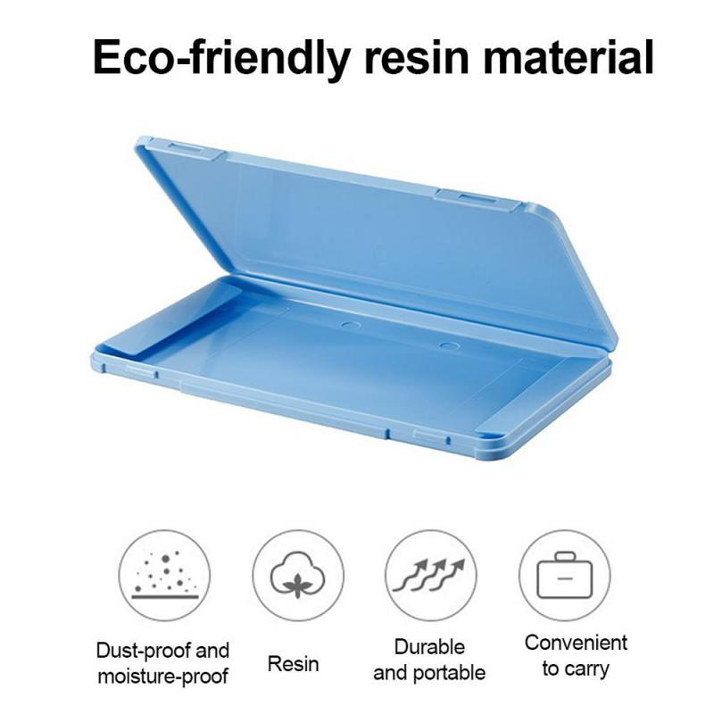 Portable Dustproof Disposable Mask Case Face Masks Container Disposable Mask Storage Box Organizer Travel Household Items