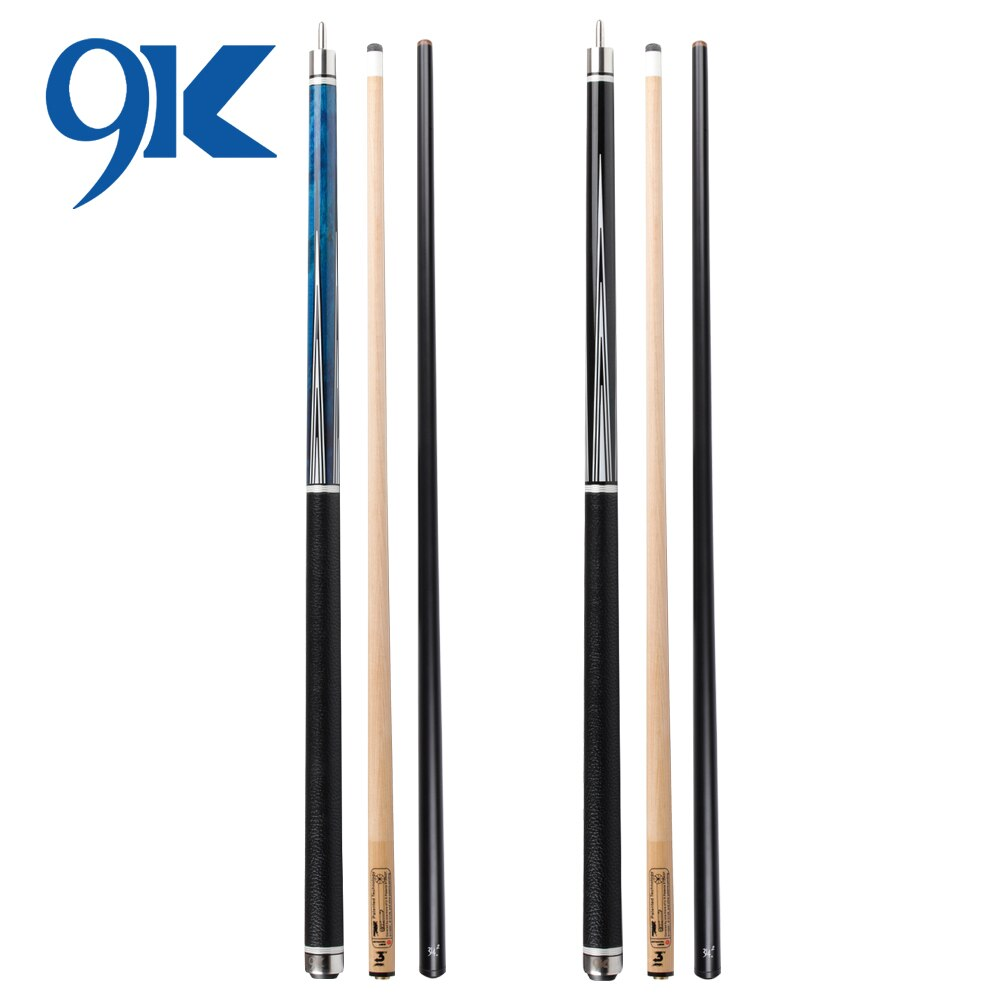 PREOAIDR 9K Series Billiard Black Technology Pool Cue With 2 Shafts (carbon shaft+8pieces in 1) Uni-loc Joint Leather Wrap Kit