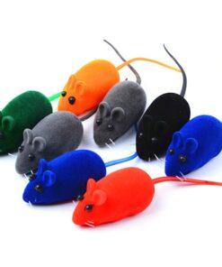 Hot Cat Toys False Mouse Pet Mini Funny Playing Toys Play Activity Plush Rubber Vinyl Realistic Sound Toys Pet Supplies Feather