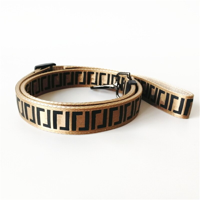 Fashion High Quality Letter Dog Chest Back Collar Leash Pet Supplies