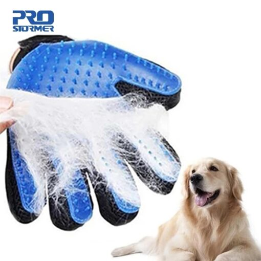 Dog Pet Grooming Glove Silicone Cats Brush Comb Deshedding Hair Gloves Dogs Bath Cleaning Supplies Animal Combs