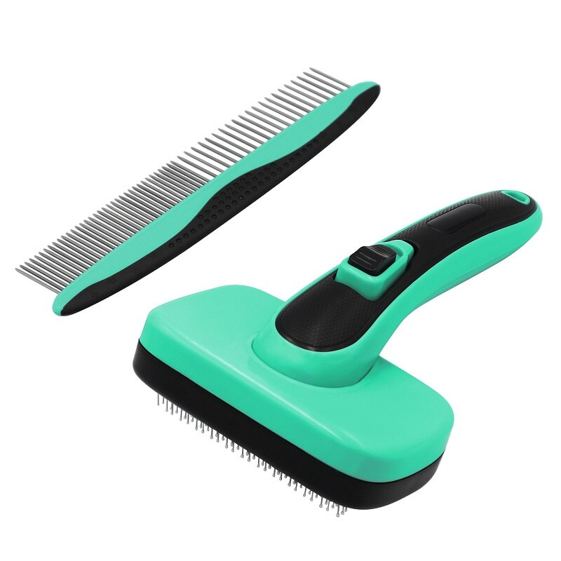 Pet Automatic Hair Removal Brushes Open Knot Needle Combs Telescopic Sticky Bead Cleaning Supplies For Large Medium Dogs Cats