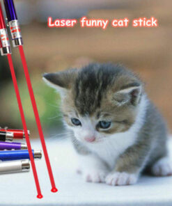 Creative Funny Pet Cat Laser Toy LED Laser Pointer Light Pen USB Interactive Toy Household Cat Supplies Random Color
