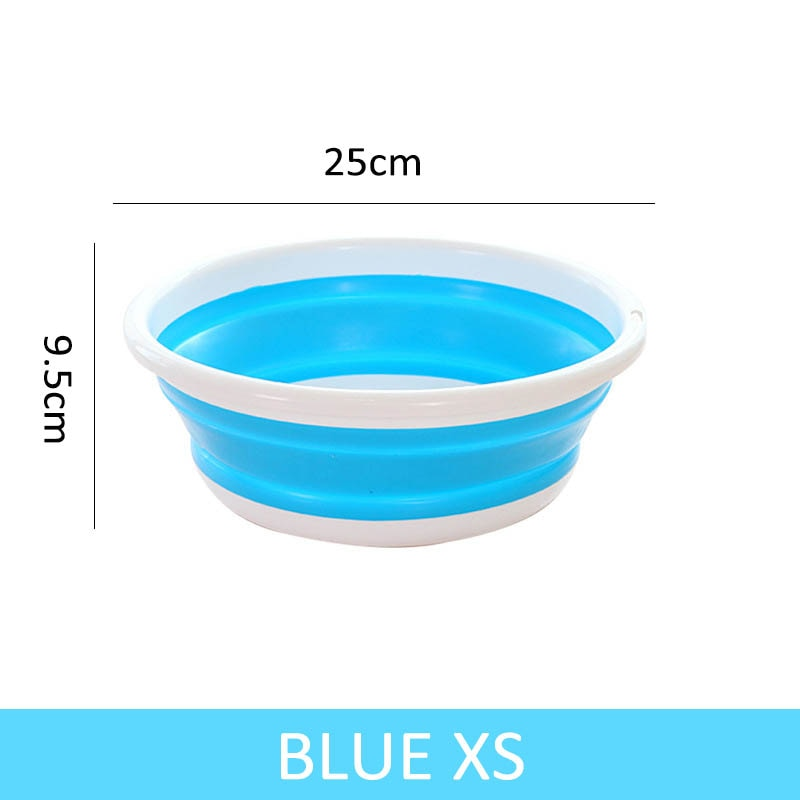 1 PCS Folding Bucket Portable Collapsible Basins Car Washing Tool Vegetable Fruit Basin High Capacity Household Cleaning Supplies