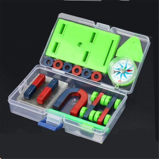 DIY Bar Ring Horseshoe Compass Magnets Set basic physics Learning Aids Technology Science Experiment Tool Toys For Children