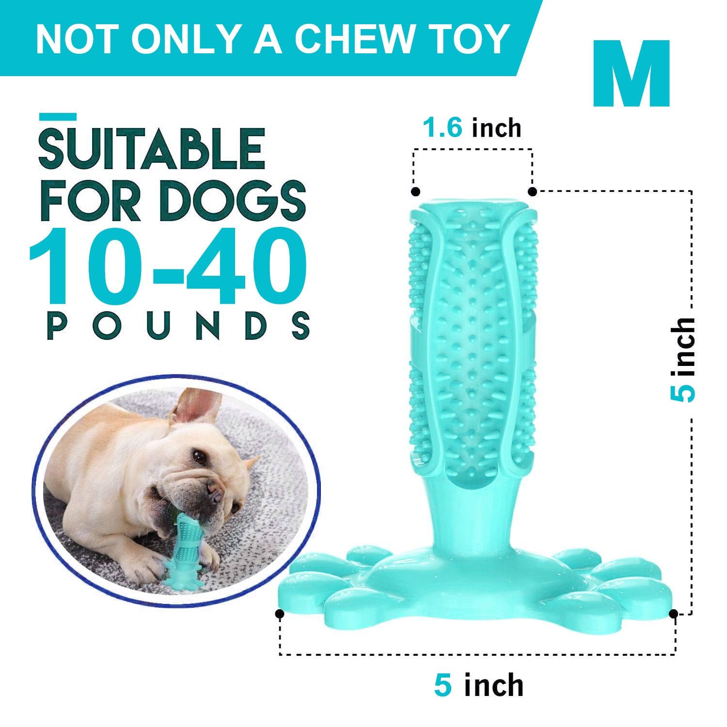 Rubber Dog Chew Toys Dog Toothbrush Teeth Cleaning Toy Dog Pet Toothbrushes Brushing Stick Pet Dog Supplies Puppy Popular Toys
