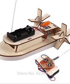 DIY Kit Remote Control Boat STEM Technology Science Experiment Kids Electronic Wooden Education Physics Toys for School Children