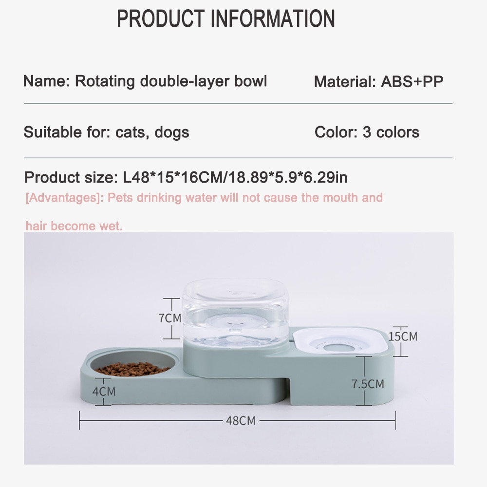 1.5L Pet Dog Cat Bowl Automatic Feeder Fountain Water Drinking for Dogs Indoor Kitten Puppy Bowls Feeding Container Pet Supplies