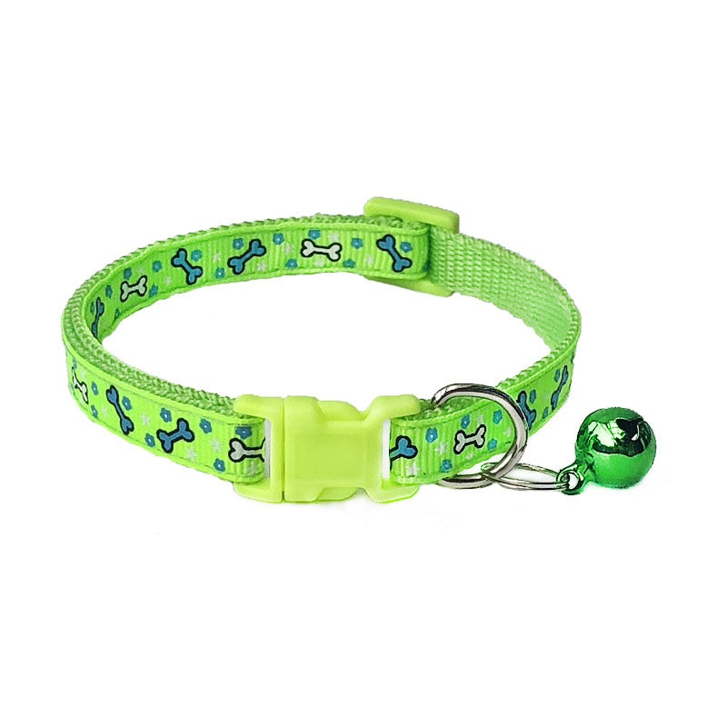 Polyester Puppy High Quality Cute Pets Collars 1 PCS with Bells Cat Adjustable Dog Collars Necklace Collar Lovely Pet Supplies