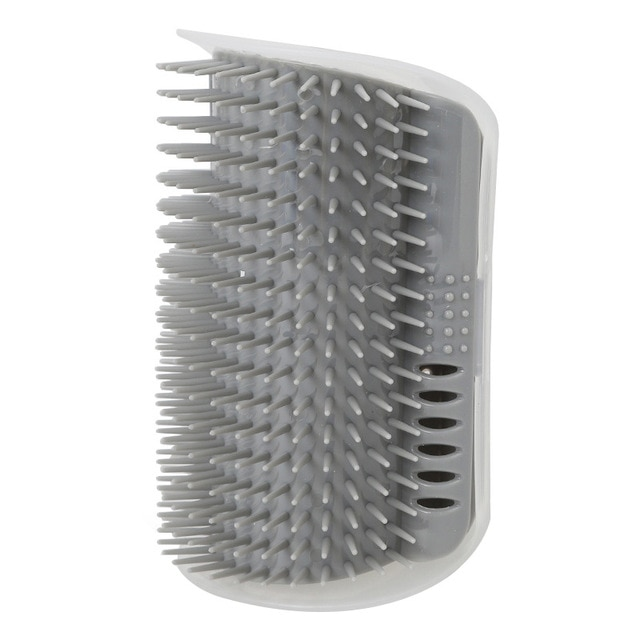 Pet Comb Blue Cat Corner Groomer Scratching Rubbing Brush Pet Hair Removal Massage Trimming Pet Grooming Cleaning Supplies