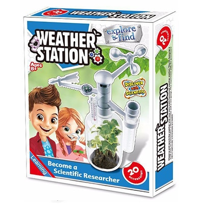 DIY STEM Children's Toys Education Science Experiment Technology Toy Set Weather Station Model Physics Experiment Kid's Toys