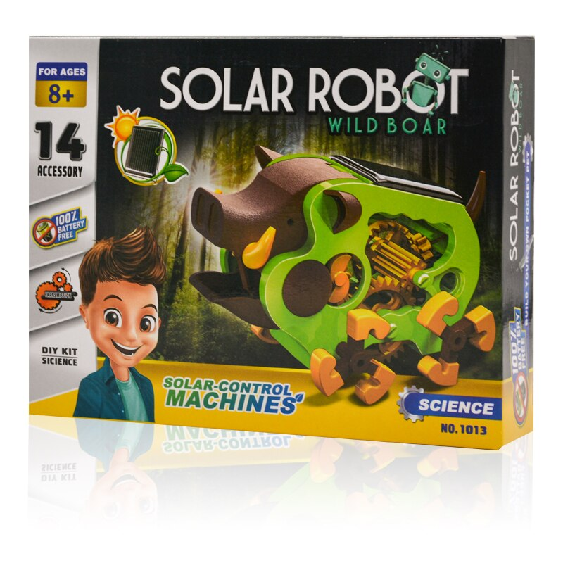 STEM Educational Tecnologia Toys for Children Science Experiment Technology Solar Hot Pig Toy DIY Stem Toys for Kids Puzzle