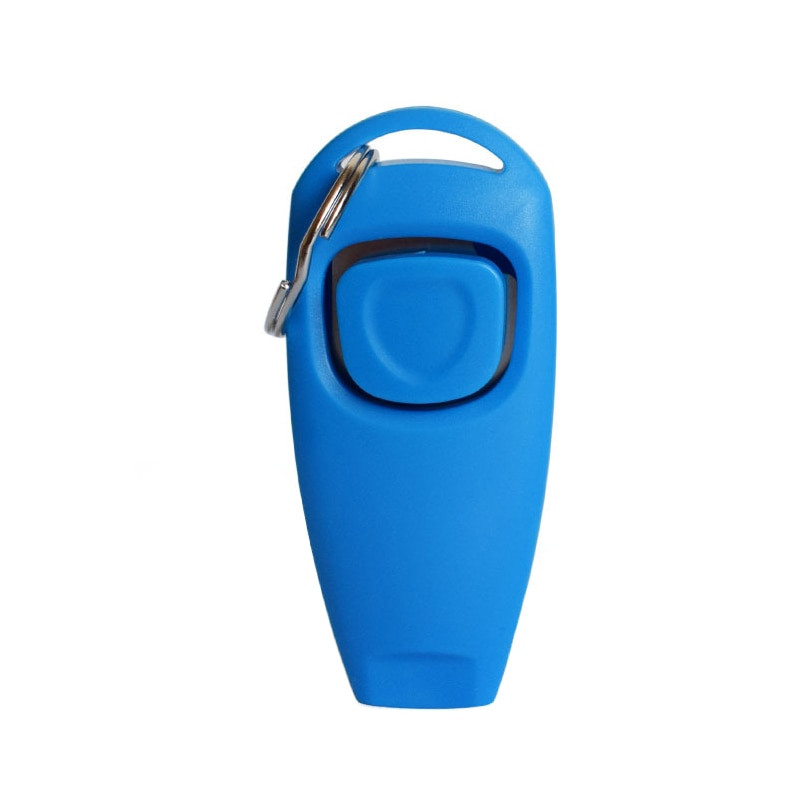 1 PCS Dog Training Whistle Clicker Plastic Pet Dog Trainer Assistive Guide With Key Ring Dog Cat Interactive Toys Pet Supplies