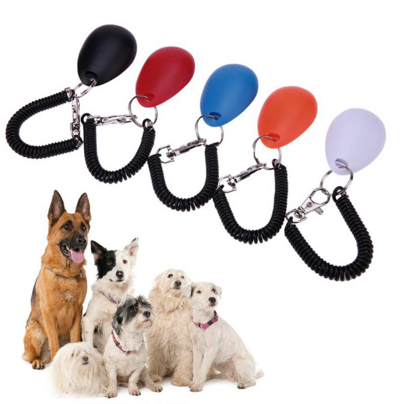 Cute Shape Dog Whistle Clicker Pet Dog Trainer Aid Guide With Key Ring Dog Training Whistle Dog Products Pet Supplies