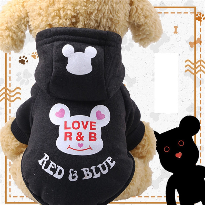 Fashion Winter Warm Dogs Clothes Dog Hoodies Outfit Jacket Clothing for Dogs Chihuahua Yorkie Hoodie Clothes Dogs Pets Supplies