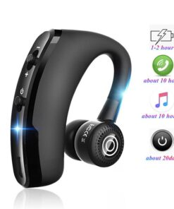 V9 Car Business Headset Bilateral stereo Noise reduction Technology Power display Voice control Call function NFC function
